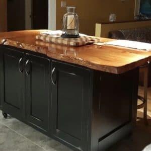 custom-live-edge-fir-top-kitchen-island-potholder-drawers 3