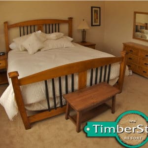 timber stone bed ad